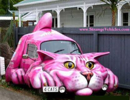 Neon Pink Cat Truck