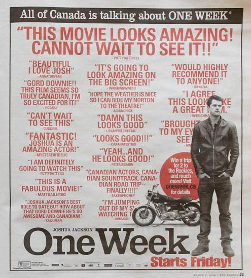 'One Week' Ad