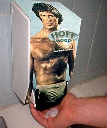 David Hasselhoff Soap Dispenser
