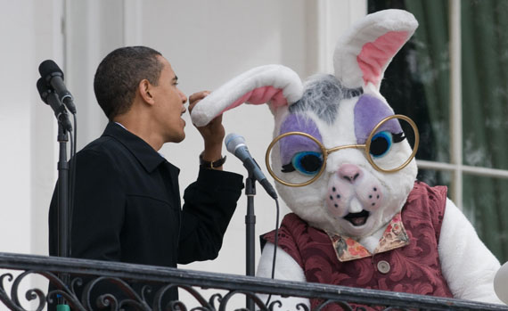 Obama Meets the Easter Bunny