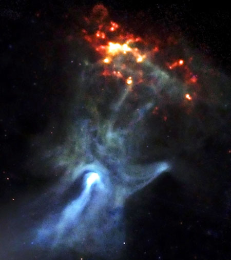 'Hand of God' Seen in Space