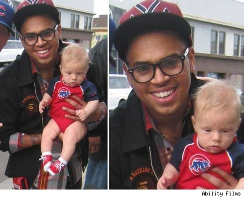 Chris Brown With Baby