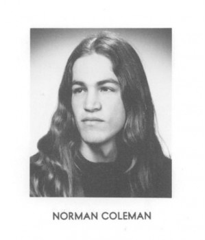 Norm Coleman's 1971 College Yearbook Photo