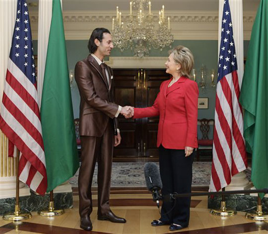 Hillary Meets Libyan Willy Wonka