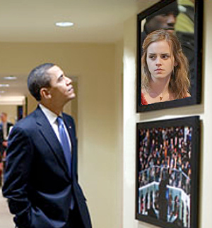 What's Barack Looking At?