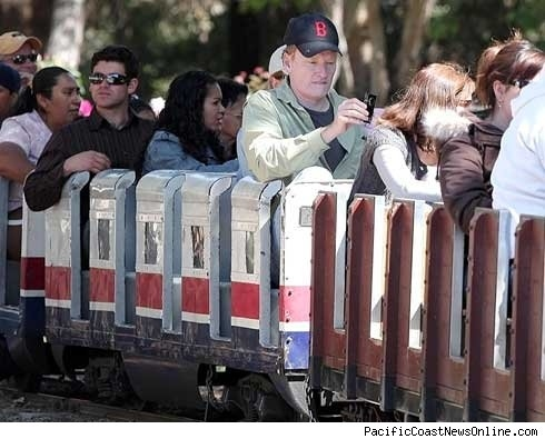 Conan Rides A Small Train