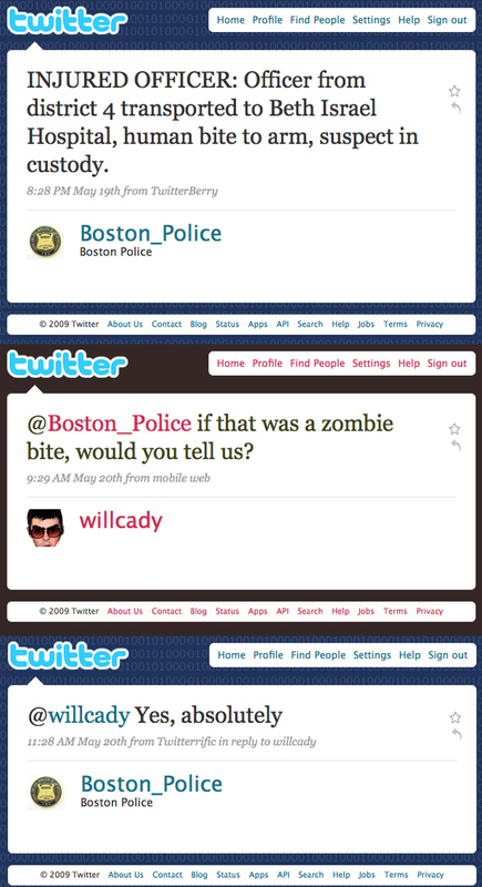 Boston Police Zombie Defense