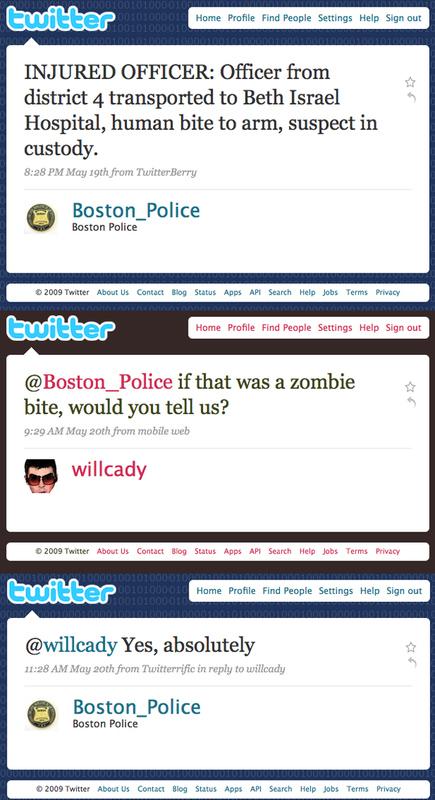 Boston Police Zombie Defense