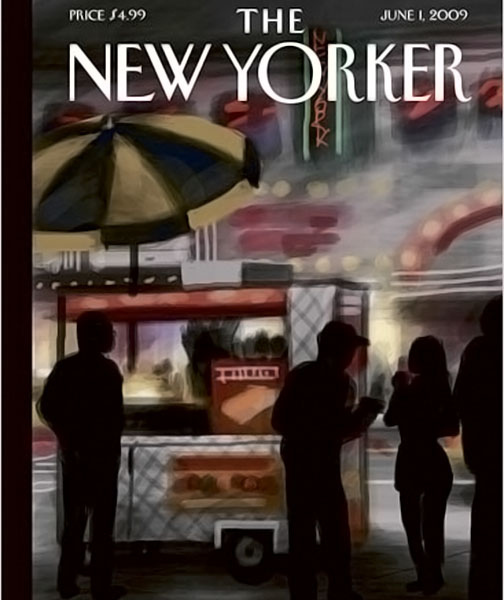 June New Yorker Cover Drawn on iPhone