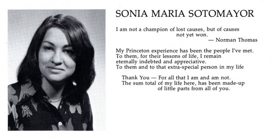 Sonia Sotomayor's Socialist Yearbook Quote