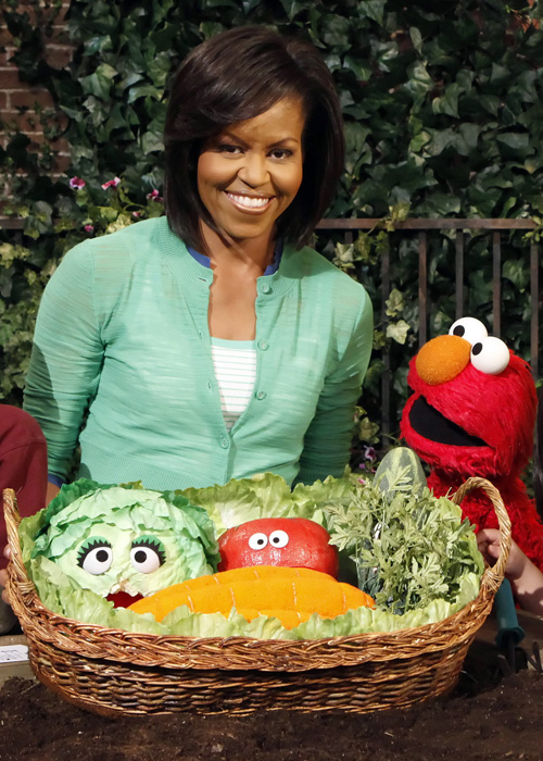 Michelle Obama and Elmo