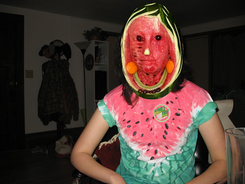 Creepy Watermelon Face
