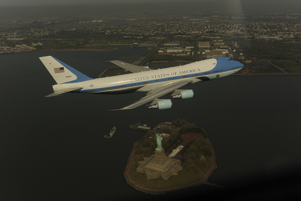 Real Air Force One Flyover Photo
