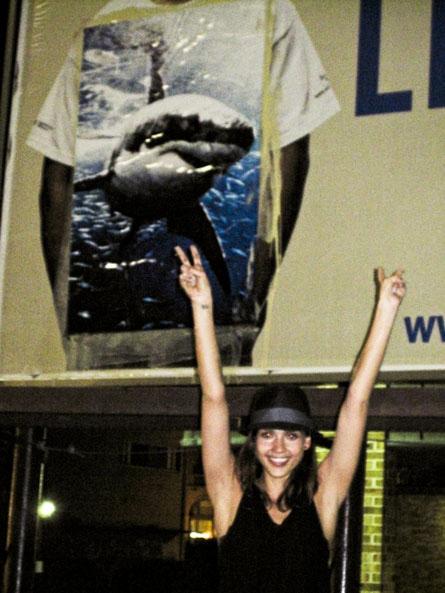 Jessica Alba's Shark Posters