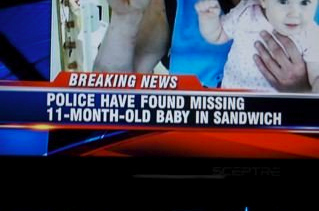 Baby Found In Sandwich