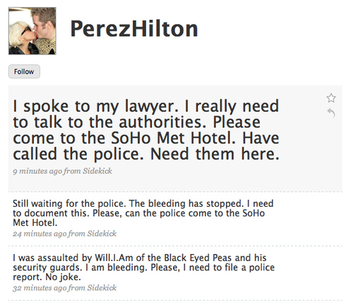 Will.i.am Beats Up Perez Hilton