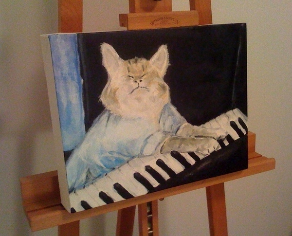 Keyboard Cat: The Painting