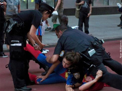 Batman and Superman Take On the NYPD