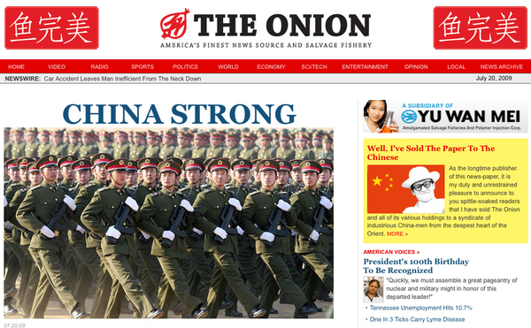 The Onion Sold To China