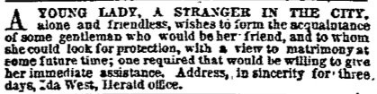 19th Century Personal Ad
