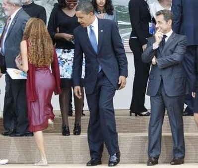 Obama Looks, Doesn't Touch