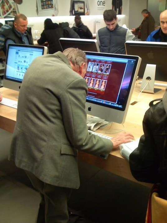Apple Store = Geriatric Porn Store