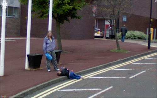 Mom PWNs Child On Google Street View