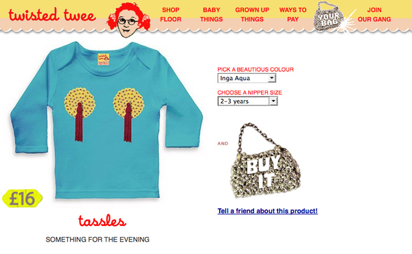 Kid's Nipple Tassle T-Shirt