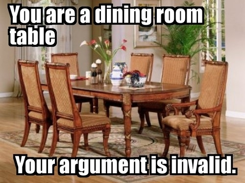 You Are A Dining Room Table