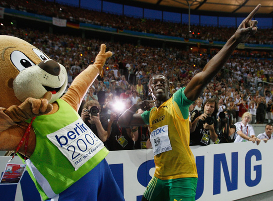 Usain Bolt Recreates Olympics, With Furry