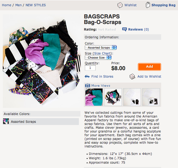 American Apparel's Bag-O-Scraps