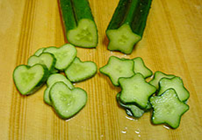 Heart and Star Shaped Cucumbers