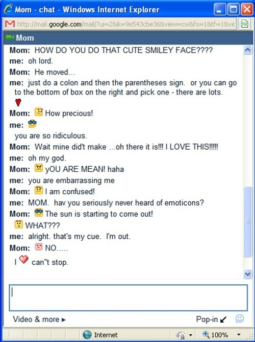 Mom Discovers Emoticons