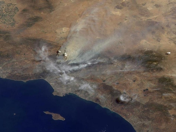 LA Fires Seen From Space