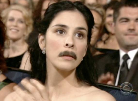 Sarah Silverman's Emmy Mustache