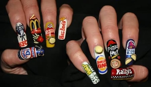 Fast Food Finger Nails