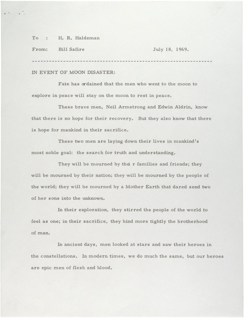 The 'Other' Apollo 11 Speech