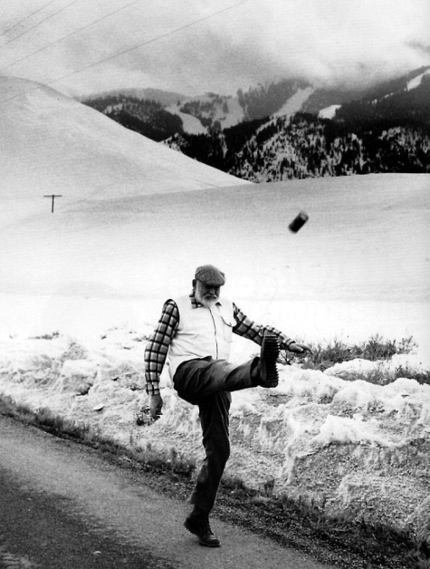 Hemingway Kicks A Can