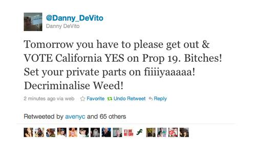 Danny DeVito For Prop 19