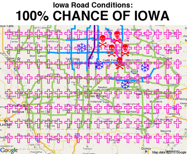 Iowa Road Conditions Outlook...