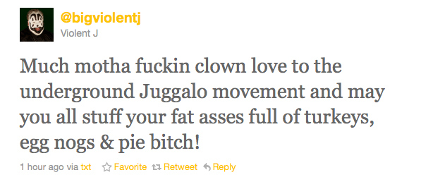 Happy Thanksgiving From Violent J