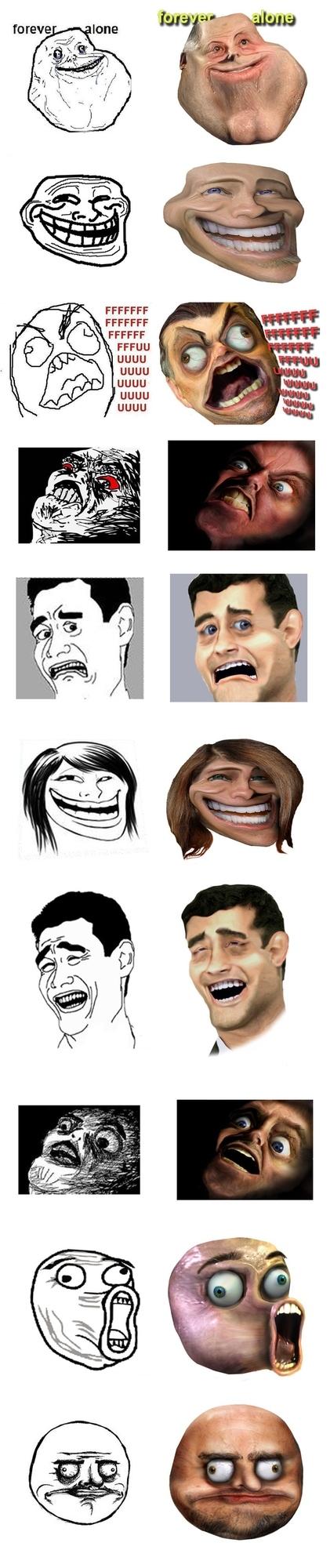10 Reaction Faces Untooned