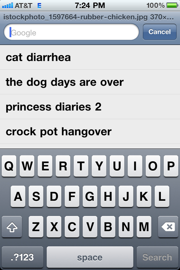 """Most Recent"" Smart Phone Google Searches"