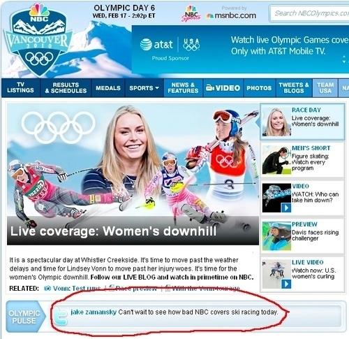 NBCOlympics.com Vs. NBC