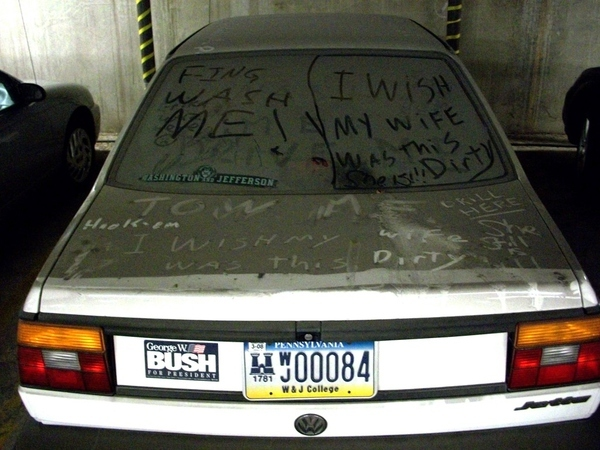 Congresswoman's Abandoned Car