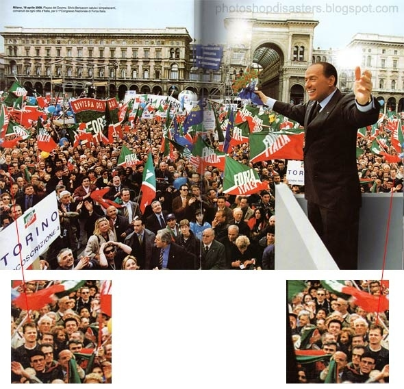 Berlusconi Crowd Inflation