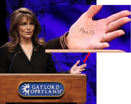 What Did Palin Really Have Written On Her Hand?