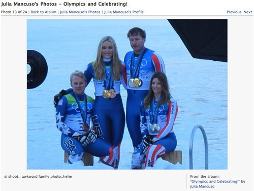 Julia Mancuso vs. Lindsey Vonn: Facebook Edition