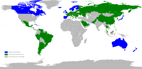 Universal Healthcare Map