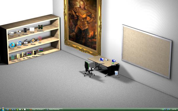 Clever Desktop Wallpaper, Redecorated